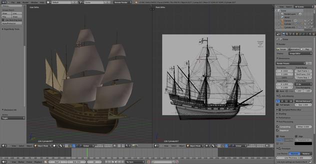 3D Modelling an Airship